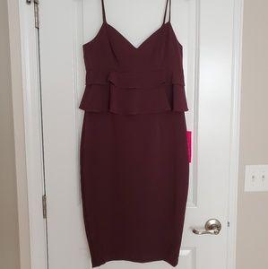 Women's Molly Peplum Ruffle Midi Dress